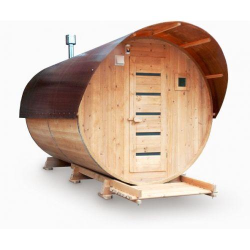 Баня бочка 3 м (Парилка+Раздевалка)