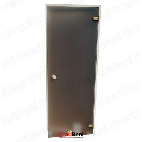 Дверь АКМА 700*1800 Бронза матовая 8мм, лиственная коробка