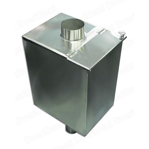 Бак прямоугольный самоварного типа ф115/V80 AISI 430/1,0 БПС-80