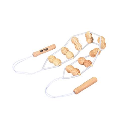 Массажер деревянный ленточный для спины 100*7*3см `Банные штучки`арт.40071