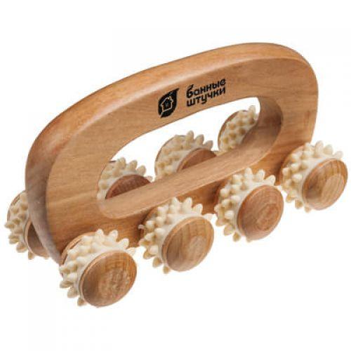 Массажер деревянный универсальный `Вездеход` 14*7*9 см `Банные штучки` арт.40054