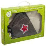 Набор 3 предмета (шапка Буденовка,рукавица,коврик) `Банные штучки`арт.41096