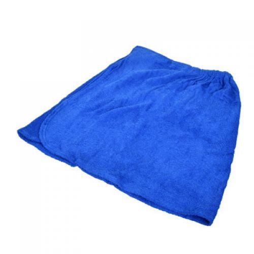 Накидка махровая для мужчин, для бани и сауны 140х60см `Банные штучки` арт.32173