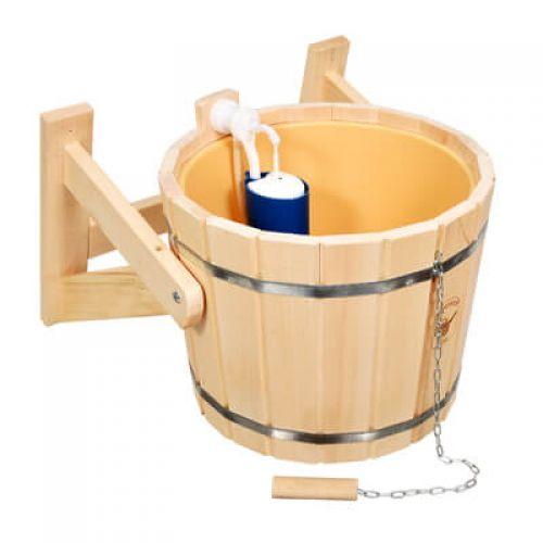 Обливное устройство `Русский душ` на 16л. с пластиковой вст. и наливным клапаном `Банные штучки` арт.33220