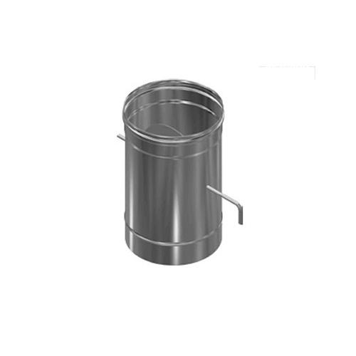 Шибер нерж. поворотный (AISI 430/0,8мм) д.115