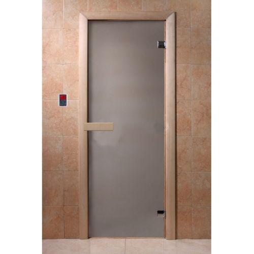 Дверь DoorWood `Сатин` 700*1900, 6 мм, коробка лиственная