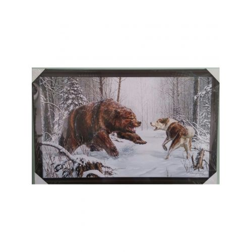 Картина `Медведь` 60*100 см