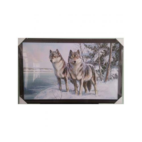 Картина `Волки` 60*100 см