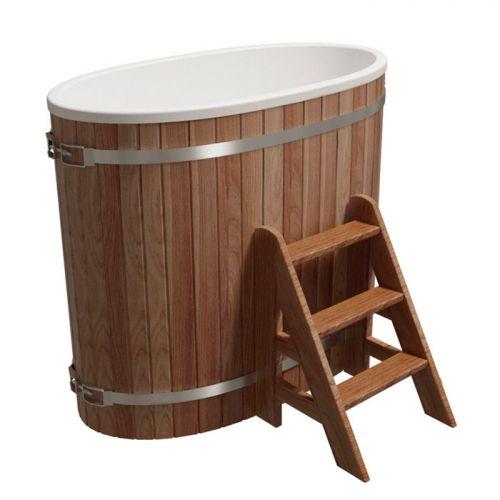 Купель одноместная `Стандарт` для бани (Термоясень) 680x1300x1100мм