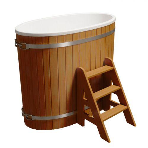 Купель одноместная `Стандарт` для бани (Термососна) 680x1300x1100мм