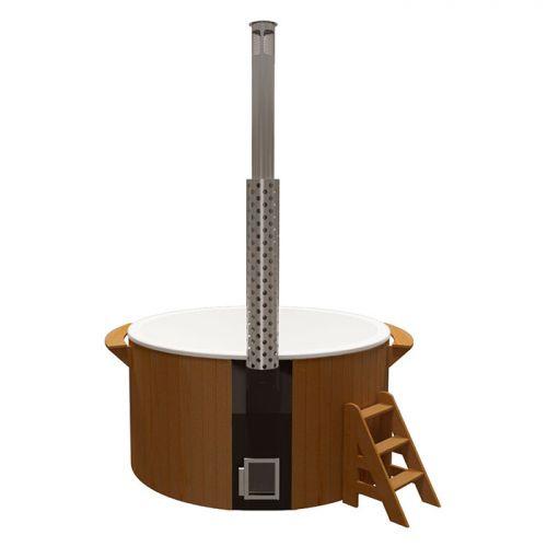 Купель круглая `Элит` для бани (Термососна) 2200x1100мм