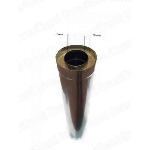 Труба двустенная L-1000мм (430-1,0/ОЦ-0,5) ф 120*220
