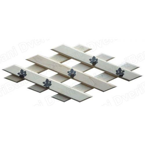 Вешалка`Ромб` 70*30см, 5 железных крючков-клён  арт.32311