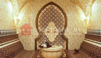 Проект бани хамам с отделкой