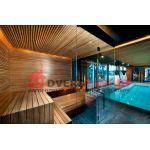 Двухэтажная баня с барбекю и бассейном 228 м2