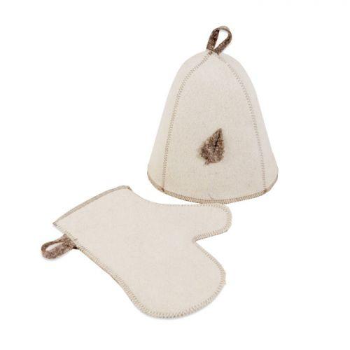 Набор д/бани (шапка, рукавица), ЭКОНОМ, войлок синт.