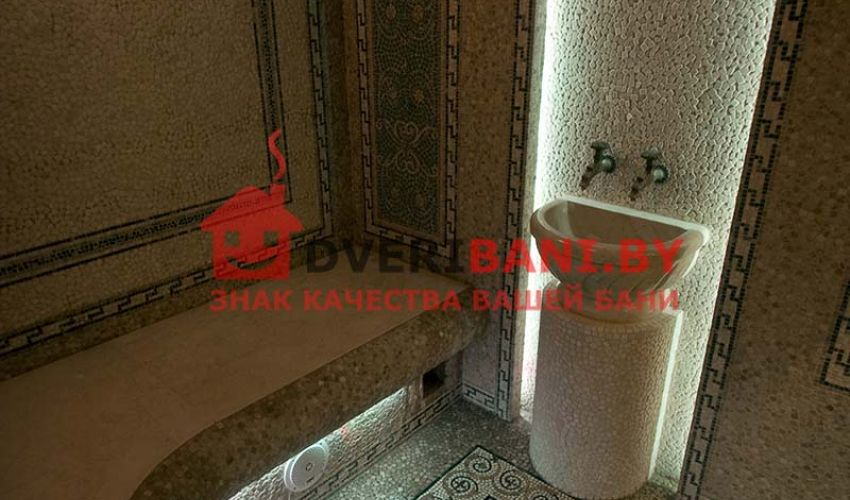 Проект турецкой бани 2 х2,7 в доме