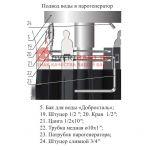 Бак на трубе Добросталь 1,5 мм 52 литра
