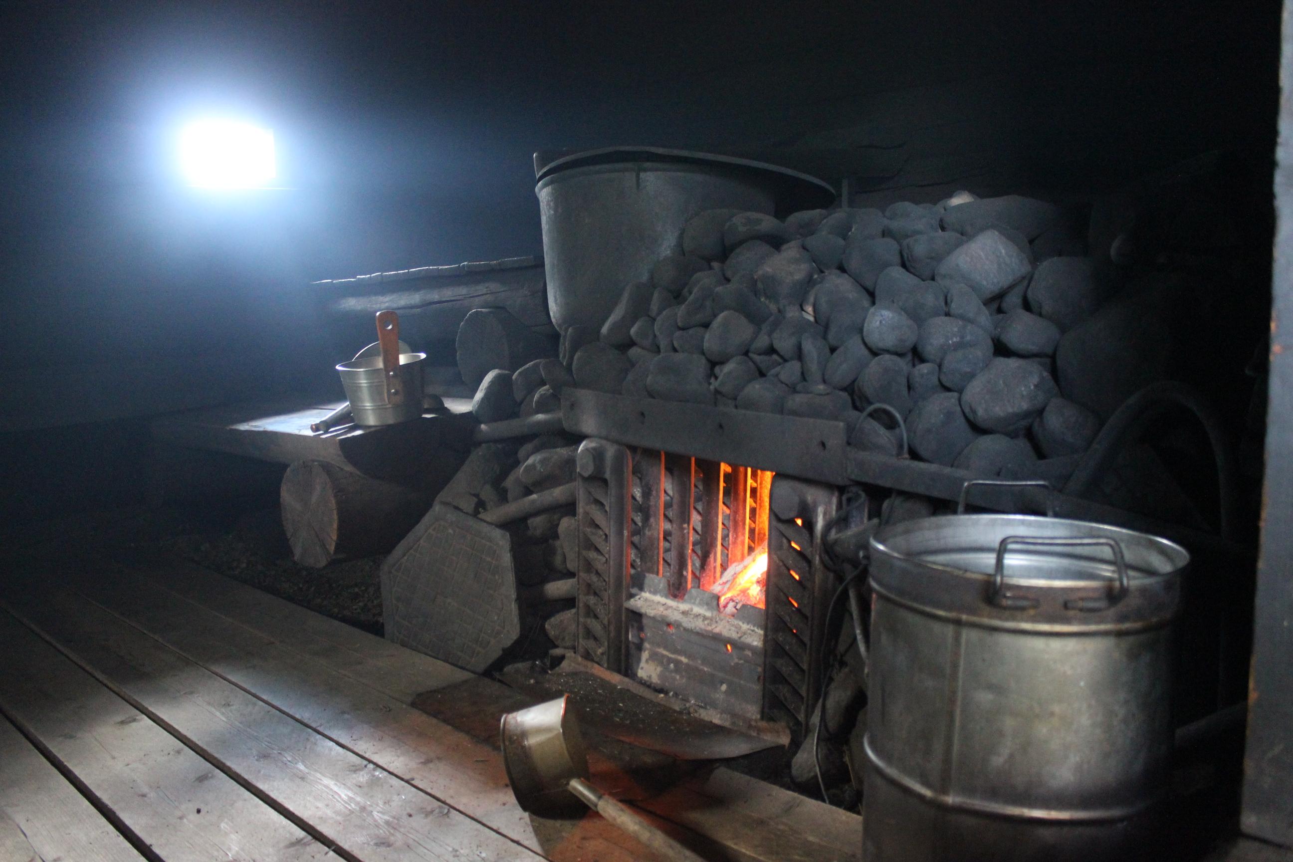 Печь для бани по черному фото