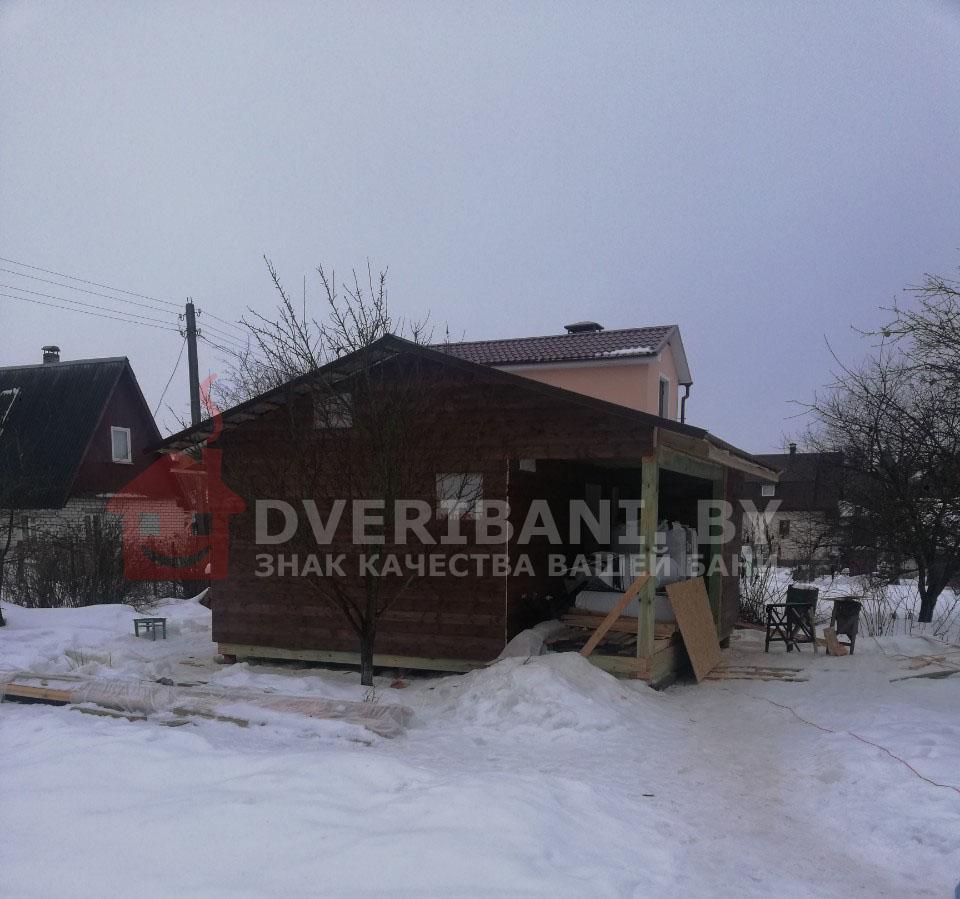 каркасная баня 6 на 6 в Минске фото