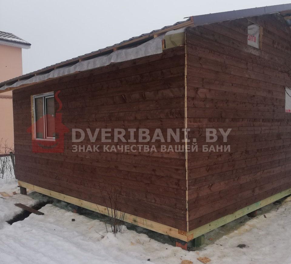 каркасная баня строительство в Минске фото