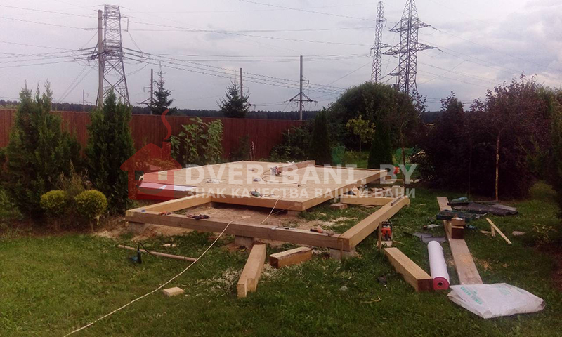 фундамент под баню Минск фото