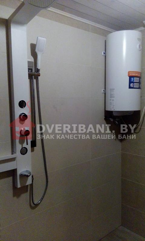 установка бойлера в бане Минск фото