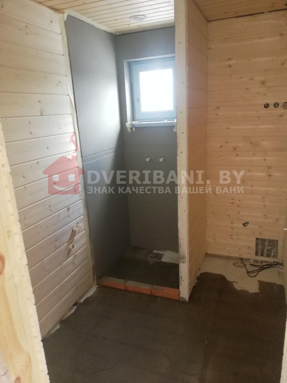 отделка моечной в бане минск фото